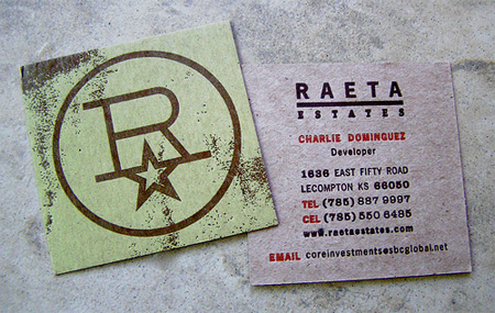 Raeta Estates Business Card