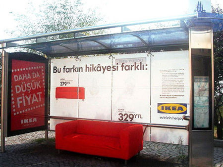 IKEA Bus Stop Advertisement