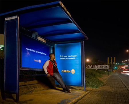 Osram Energy Saver Bus Stop Advertisement 2