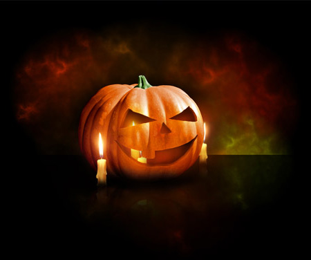 Halloween Pumpkin Wallpaper in Photoshop