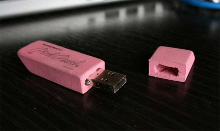 Pink Eraser USB Flash Drive