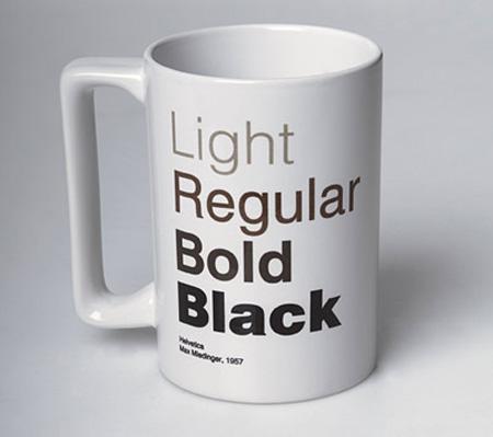 Helvetica Coffee Mug