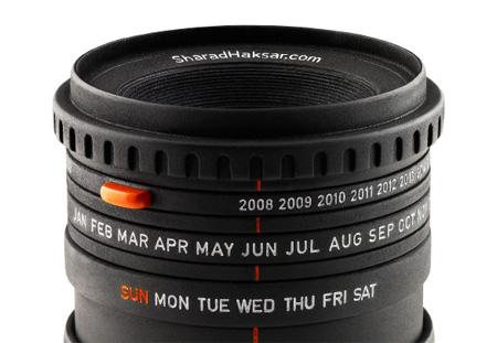 The World\'s First Camera Lens Calendar