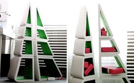 Christmas Tree Bookshelf