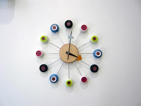 Skateboard Astro Clock