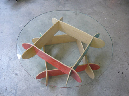 Skateboard Comet Coffee Table