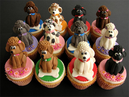 Poodle Cupcakes