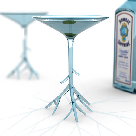 Botanical Martini Glass