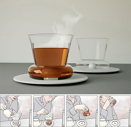 Self-Stirring Tea Glass