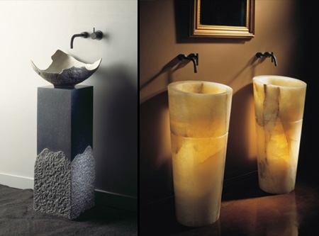 Stone Forest Pedestal Sinks