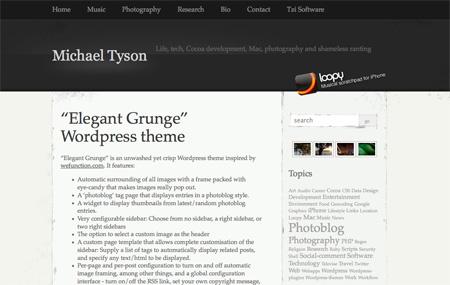 Elegant Grunge Theme