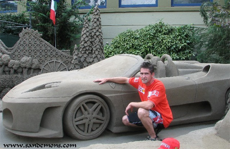 Ferrari Sand Sculpture