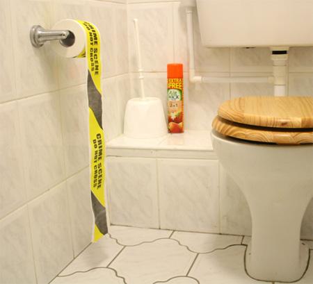 Crime Scene Toilet Paper