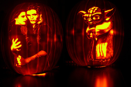 New Moon and Yoda Pumpkin