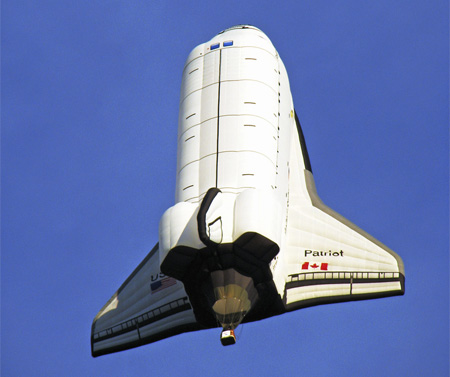 Space Shuttle Hot Air Balloon