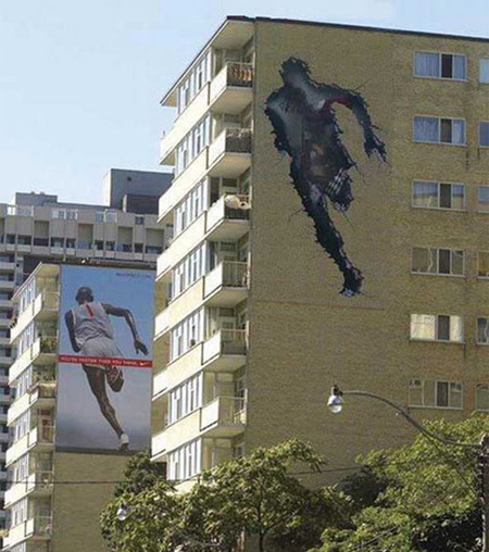 Nike Building Advertisement