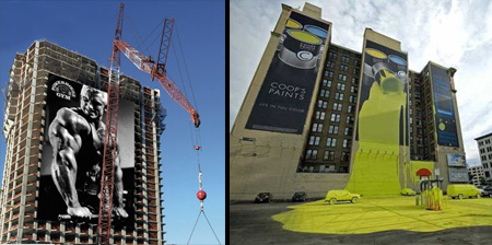 Creative Advertising on Buildings