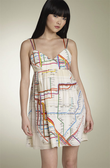 NYC Subway Map Dress