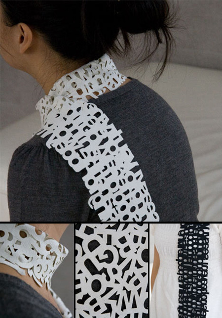 Typography Scarf