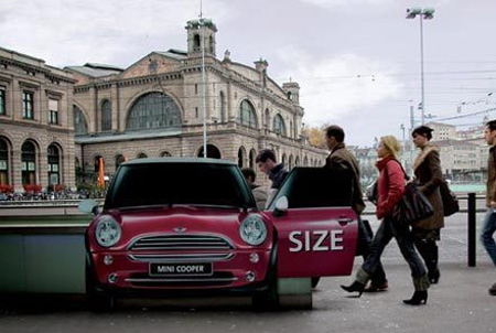 MINI Cooper Train Station Ad