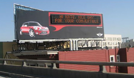 MINI Personalized Billboard