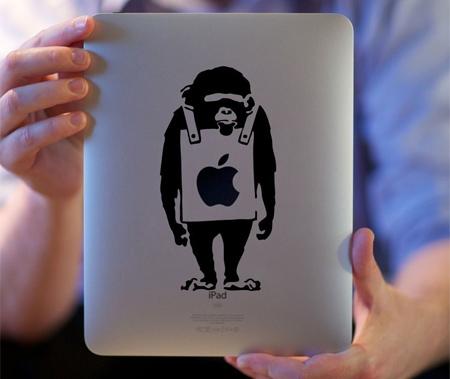 Monkey iPad Sticker
