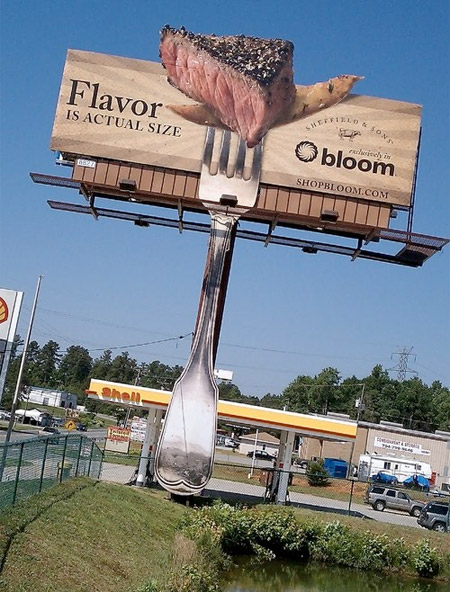 Steak Scented Billboard