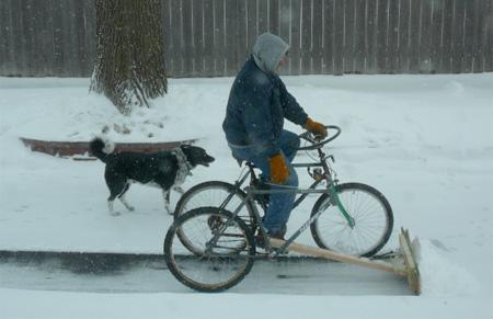 Snow Plow Bike