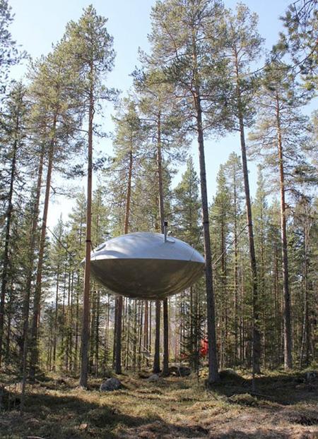 UFO Inspired Tree House