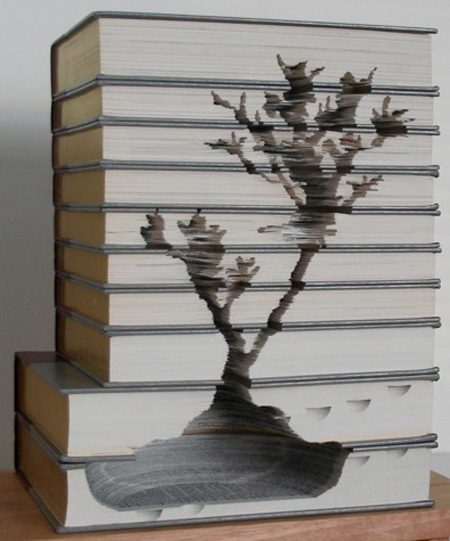 Stacked Books Carving