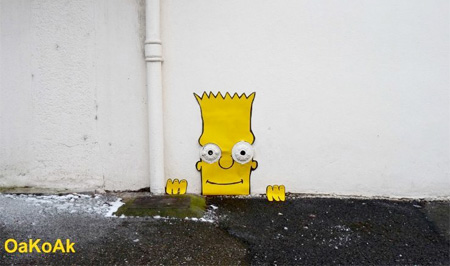 Bart Simpson Street Art