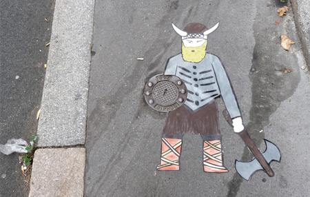 Viking Street Art