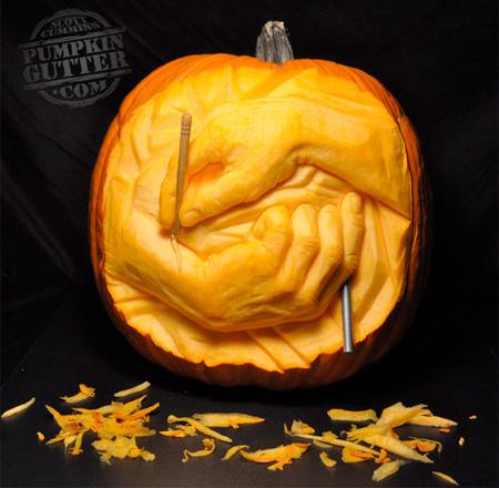 Carving Hands Pumpkin