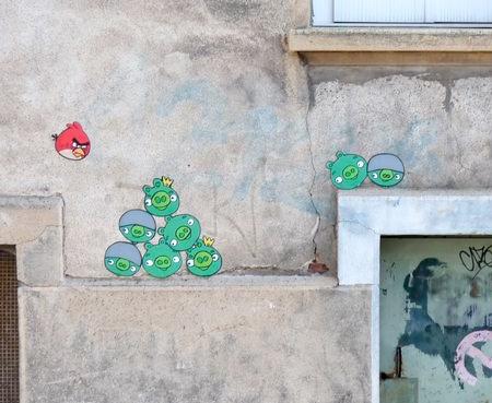 Angry Birds Street Art