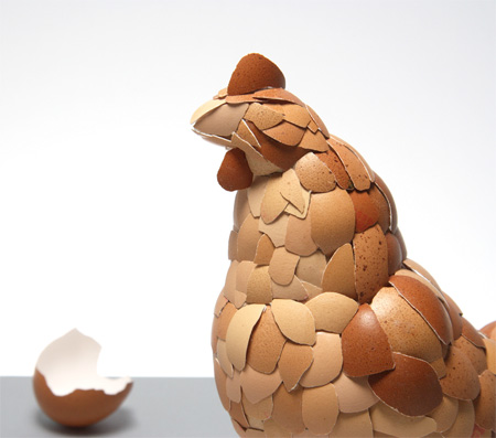 Chicken Made from Eggshells