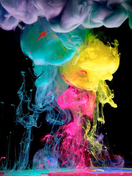 Paint Dropped into Water