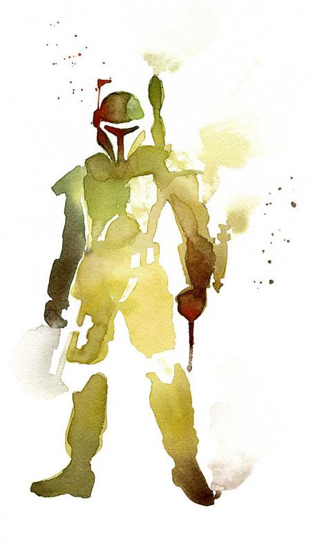 Star Wars Watercolor Paintings