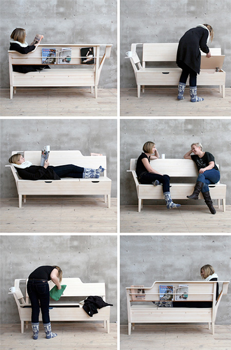 sofa camping inflatable couch storage bench