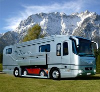Motorhome with Car Garage