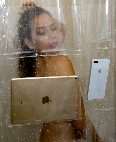 Phone Holder Shower Curtain