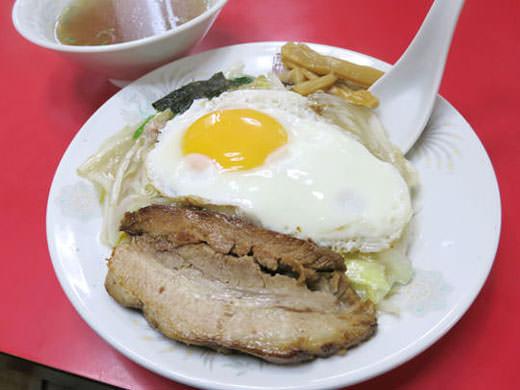 きりん飯店 奥田店 大きなチャーシューの名物 中華丼