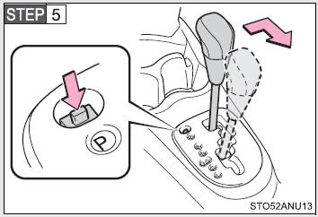 Toyota Yaris: If the shift lever cannot be shifted from P
