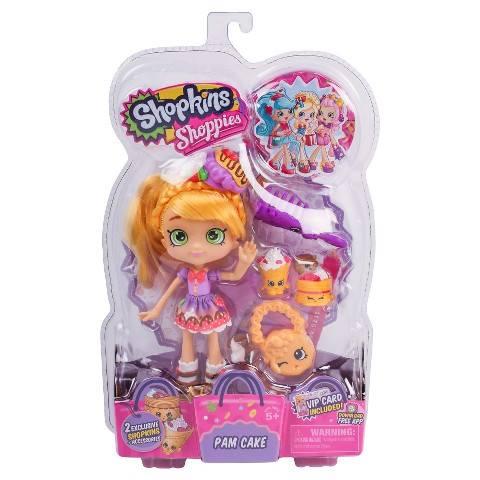 3 NEW Shopkins Shoppies Dolls - Pam Cake