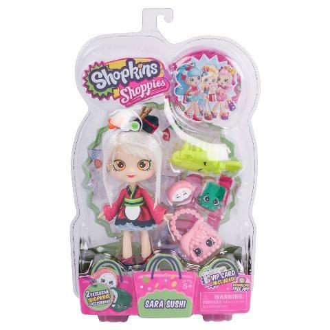 3 NEW Shopkins Shoppies Dolls - Sara Sushi