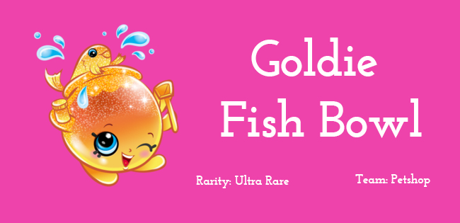 shopkins character goldie fish bowl toy box chest