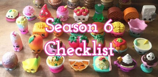 Shopkins Season 6 Checklist