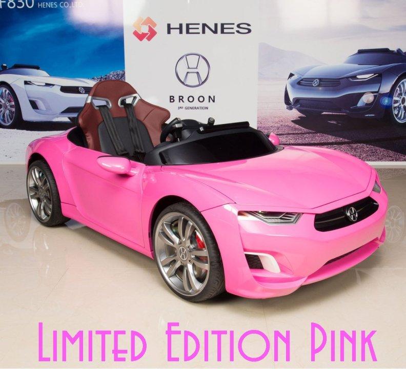 Kids Electric Sports Car Henes Broon F830 Pink