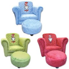 Dr Seuss Chair African Tribal Birthing Toydirectory Cat In The Hat And Ottoman Set From Trend Lab Llc