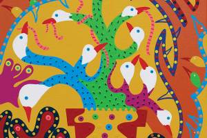 Painting - The Bird Cactus - Toyism. Buy art online.