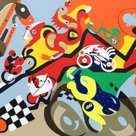 Painting - Horsepower Mania - Toyism. Buy art online.